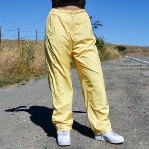 Vintage Yellow Track Pants